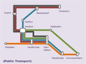 wehrli zürich transport map